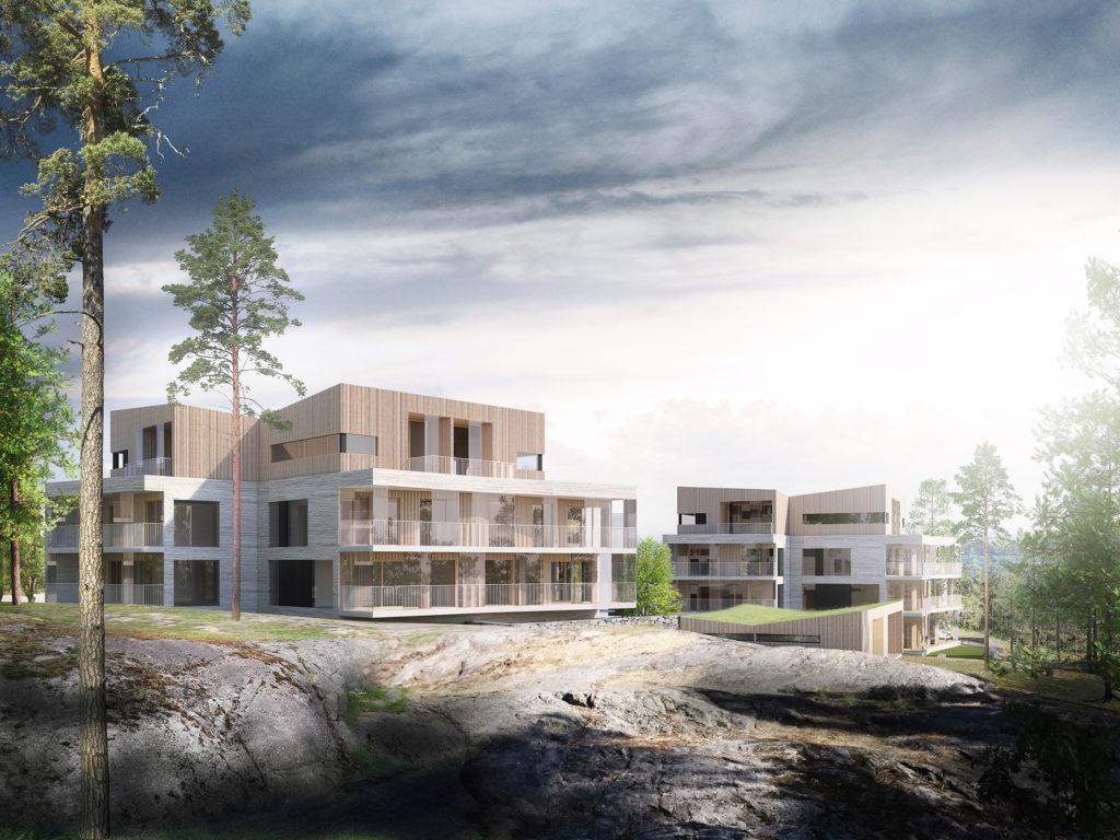 Gunillankallion Aida - kutsukilpailu, voittajaehdotus Kolmipyörä, ARK-house arkkitehdit Oy