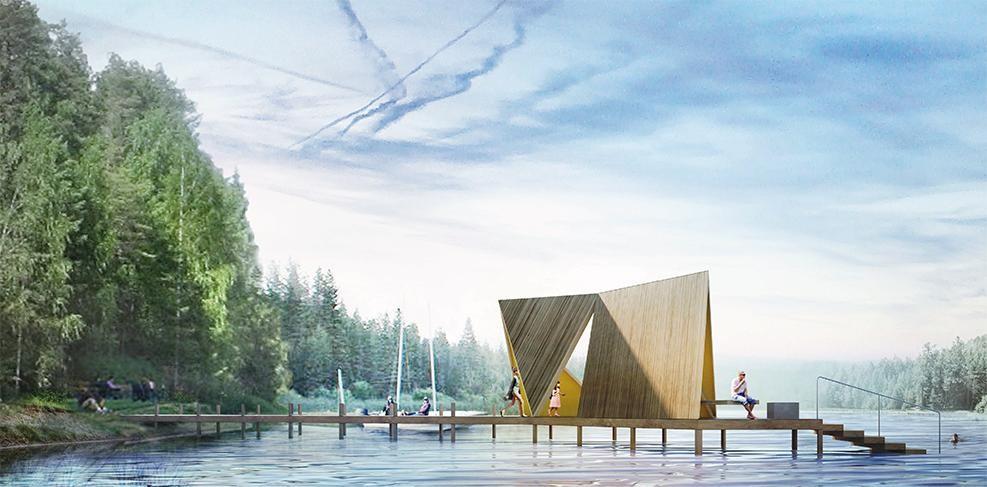 Voittanut ehdotus Pliplap, Huttunen-Lipasti Arkkitehdit Oy