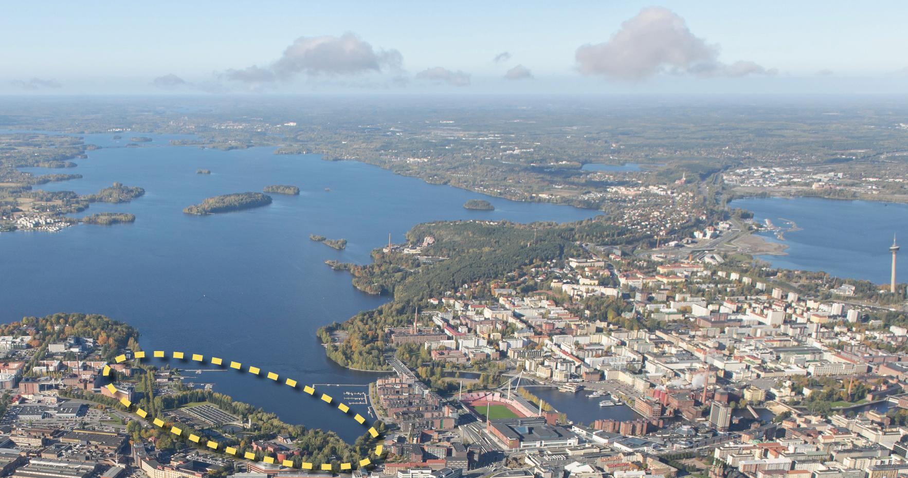 Tampereen Viinikanlahti - kilpailualue