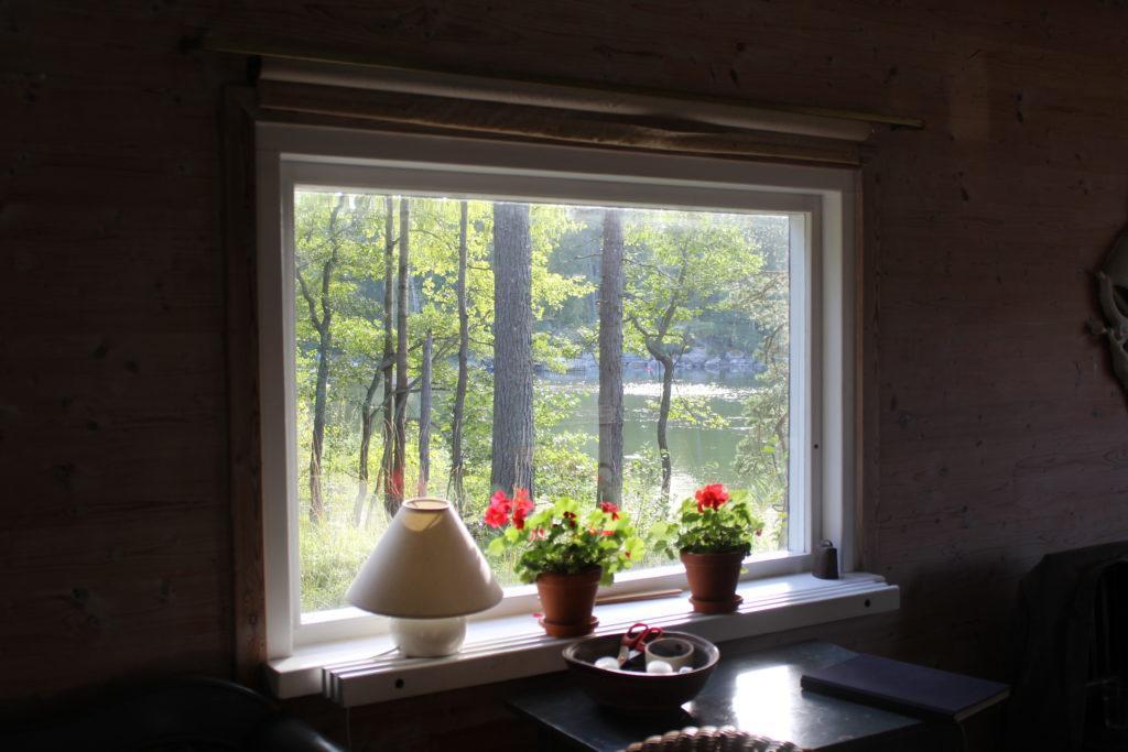 Näkymä Oivalan salin ikkunasta