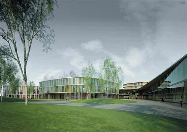 Espoon sairaala, 1. palkinto, Arkkitehtiroimisto K2S Oy