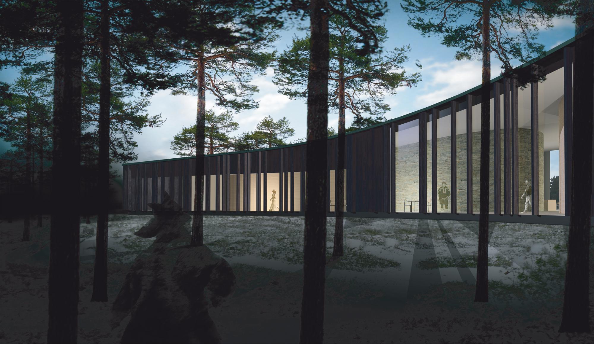 Saamelaiskulttuurikeskus, 1.palkinto, HALO Arkkitehdit Oy