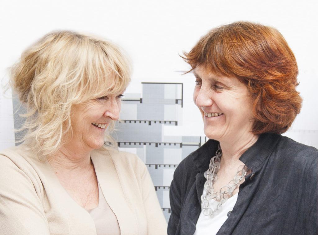 Yvonne Farrell ja Shelley McNamara.