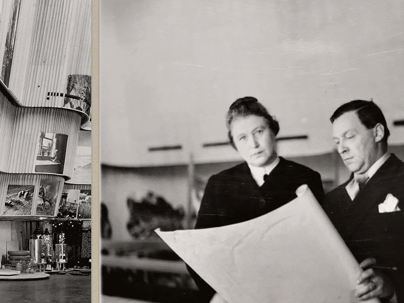 Aino ja Alvar Aalto New Yorkin maailmannäyttelyssä 1939. Kuva: Eino Mäkinen/Aallon perhe